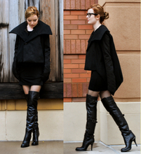 Jane Aldridge - Rick Owens Coat, Herff Christiansen Dress, Barneys Co Op Boots, Ray Ban Glasses - DRY BONES