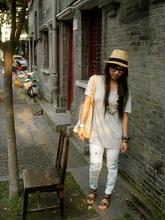 Rebecca Wang - Ray Ban Glasses, Louis Vuitton Petit Noe, Acid Reign Wash Jeans - One way street