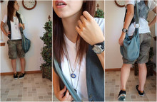 Caitlin Marie - Fossil Watch, American Eagle Shorts, Urban Outfitters Shoes, Urban Outfitters Vest - TimeQuake.