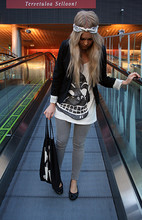 Emmi T - Cheap Monday Top, Melodica Bag - Skull
