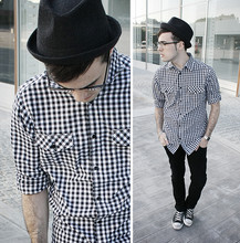 Juan Sierra - Pull & Bear Hat, Lefties Shirt, Zara Jeans - Not sure what it means
