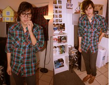 Steven Oviedo - Forever 21 Plaid Button Up, American Apparel Slim Slack, Urban Outfitters Old Brown Shoe - Kingdom Hearts