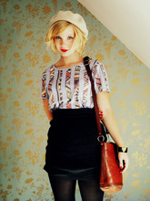 Hedvig Boström - Monki T Shirt, Secondhand Skirt, Second Hand Baf, Hattbaren Basker - All we want is music