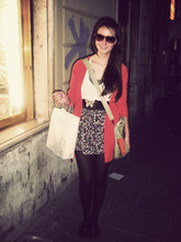 Ann H. - Brandy Flower Skirt, Cardigan, Favourite Shoes, Subdued Paper Bag - // buongiorno, sono stanca.