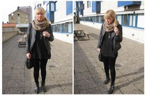 Sofie Ekstrom - Zara Lather Jacket, Vagabond Boots, Monki Tights - Out and about in Stockholm