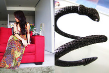 Synz N. - Vintage Store Maxi Dress, Hello Gorgeous! Black Diamond Snake Cuff - I'm doing it for a thrill
