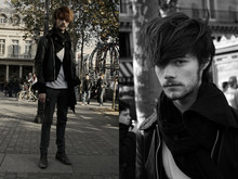 CLEMENT LOUIS . - Frip Black Leather Vest, American Apparel Grey Longshoreman, Cheap Monday Grey Slim, Bf Black Leather Boots - Place Colette . Clément louis .