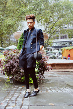Rolando Robinson - Forever 21 Patent Oxfords, Military Jacket - The Sartorialist