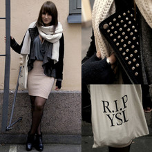 Essi N. - Jc Suede Jacket, Starstyling Bag, Weekday Skirt, Cos Scarf - I know I'm selfish, I'm unkind