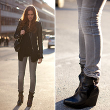 Caroline B - Shoes Carin Wester, Jeans, Balenciaga Jacket - Just me today