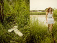 Rockie Nolan - Vintage Victorian Lace Mini Dress, Vintage White Flats - Country club runaway