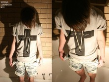 Cameron Leigh Conroy - Gift Silver Ring, With Diamond., Who Am Eye Grey Tee, Home Made Acid Shorts - These pockets are filled with nothing.