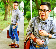 Dennis Robles - Maison Martin Margiela Brown Cuff, Panerai Gmt Watch, Pepe Jeans Glasses, Hermës Birkin 40cm Havanne, H&M Printed Grey Polo, Trf Denim Jeans, Goodyear Perforated Laceups, Topman Suspenders, Hermës Brown H Belt - Cherry cherry boom boom