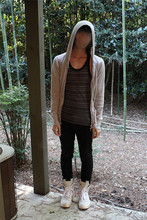 Bryce Na - Kzo Hoodie, Number (N)Ine Tank, Cheap Monday Black Od Jeans, Rick Owens Trainers - I'm a chestnut peeling genius
