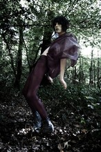 Matthew Wells - Primark Leggings, Couture Cape, River Island Black Stressed Leather Boots - IHEARTCOUTURE