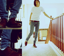 Andy Morales - Timberland Belt, American Apparel Tee, Cheap Monday Jeans, Gucci Shoes - 589743, on a Monday