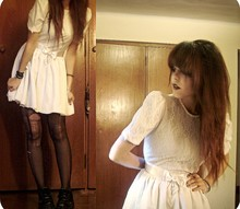 Lua P - Vintage Dress, Self Slashed Tights - Im gonna be, exactly what you want to see