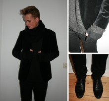 Oscar Lindqvist - Swear Greatest Hits Jimmy, H&M Velvet Blazer, H&M Knitted Scarf, Topman Square Gloves?, Weekday Net Top, Weekday Ronny, Cheap Monday Jeans - GIVEMETHELIGHT!
