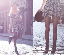 Cocorosa . - Ebay Floral Dress, H&M Hat, Roper Boots - ... but no ribbon bows