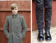 James T - River Island Coat, Dr. Martens Boots - REPORTING FOR DUTY, SIR.