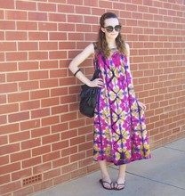 Maddison K - Groove Black Round Sunglasses, Markets Tie Dye Maxi Dress, Sportsgirl Black Handbag, Havaianas Black Thongs - Did i catch you in a moment?