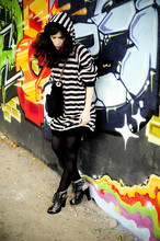 Geraldine Grisey - Sonia Rykiel Hoodie Dress, Marc By Jacobs Lace Up Booties - Sonia R. by Punky b. #1