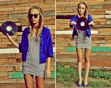 Agnija Grigule - Cubus Striped Shirt, H&M Sunglasses, Zara High Heeled Shoes - Save vinyl and eat more cupcakes