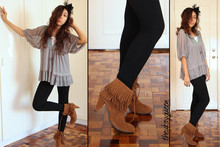 Pat Dela torre - Thrifted Fringe Boots - 500 Pies and Tarts