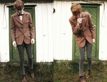 J. D. Weiertz - Beyond Retro Brown Blazer, Topman Blue Bow Tie - Early dawning, sunday morning