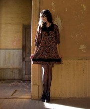 Rhiannon Leifheit - Young Edwardian Vintage, Tabio Polka Dot Tights, Dolce Vita Shoes - At the abandoned Nolan House