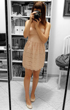 Elle F. - Zara Pink Lace Dress, H&M Pink Ballerinas - The french are glad to die for love