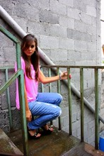 Paulina T - Forever 21 Neon T Shirt, Forever 21 Destroyed Jeans, Steve Madden Black Shoes - And the way you caught my eye.