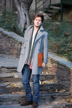 Alberto Monfil - El Ganso Coat, University Outfitters Cambridge Scarf, Vintage Bag, Zara Jeans, Purificación GarcíA Boots - Stripper, I wanna be your mister...