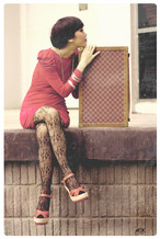 Nadya Natassya - Red Vintage Dress, The Little Thing She Needs Heels, Vintage Suitcase - Crossroads