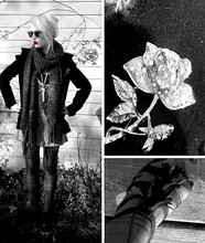 Jessi Towell - Mom's Closet Knitted Scarf, Meijer Plaid Stockings, Old Navy Peacoat, Forever 21 Fringed Wedges, Antique Market Brooch - In My Arms She Was Always Lolita