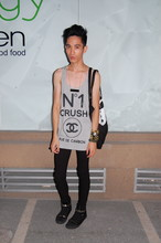 Chi Kotur - Proud Race Oversized Tank, Topshop Tote, Zara Skinnies, Aldo Shoes, Diy Necklace - Trilogy