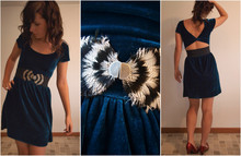 Caitlin Marie - Urban Outfitters Feather Belt, Urban Outfitters Velvet Dress - Televators