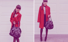 Lea K - H&M Bag, H&M Cardigan, Vintage Necklace - Early winter.