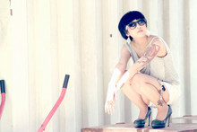 Nadya Natassya - The Little Thing She Needs Heels, Short Jeans, Ray Ban Sunglasses - Perfectly lonely