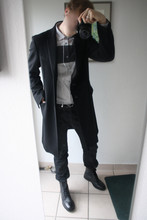 David ****** - Costume National Coat, Cos Shirt, Cos Belt, Neil Barrett Jeans, Cos Boots - Xmas time