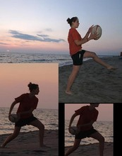 Angie B -  - Beach rugby whith the sunset