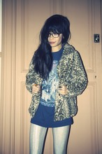 Debra Teoh - Zara Leopard Coat, Junkfood Wolf Tee, American Apparel Snow Holo Leggings - The Killing Moon