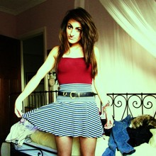 Lucinda VM - American Apparel Aa Leotard, American Apparel Aa High Waisted Skirt - You say Y E S to everything///