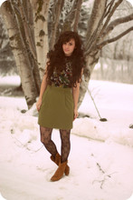 Delightfully Tacky . - Thrifted Skirt, Forever 21 Dress, Wet Seal Tights, Target Boots - Swinger of Birches