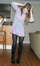 Catie K - Free People Marry Poppins Boots, 80's Knit Dress - I really wanted to love this world