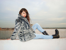 Saray Dansvogue - Coat Vintage, H&M -  Fur Winter