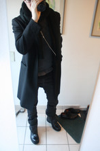 David ****** - H&M Scarf, Costume National Homme Coat, Cos Pullover, Cos T's, Dior Homme Jeans, Kris Van Assche Boots - Booty