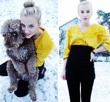 Rebecka Bjurmell - Mum Wore It During The 80's Yellow Blouse, Vintage Clock, Made It Myself Skirt, ? Heels - Teddy bear.