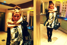 Stella Knigge - H&M Scarf, Jacket, Flannie, Topshop Mj Top, Zu Bag - Can you feel it?