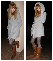 Esikazemese _ - Zara Grey Wool Hoodie Coat, H&M Flowery Tights - My DreamCoat <3